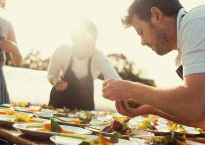 Kit & Kee Catering Organic Farm Wedding